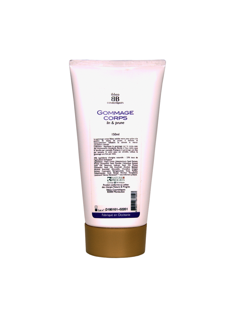 Ibbeo - Gommage pour le Corps Lin & Prune - 150 ml