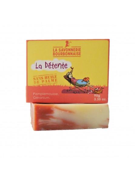 La Savonnerie Bourbonnaise - Savon La Détente au Pamplemousse Bio - 100 gr
