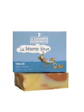 La Savonnerie Bourbonnaise - Savon La Détente Bleue Ylang-Ylang - 100 grammes