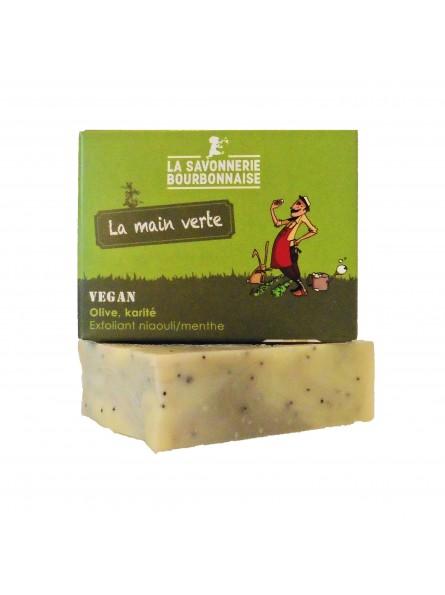 La Savonnerie Bourbonnaise - Savon Exfoliant La Main Verte - 100 grammes