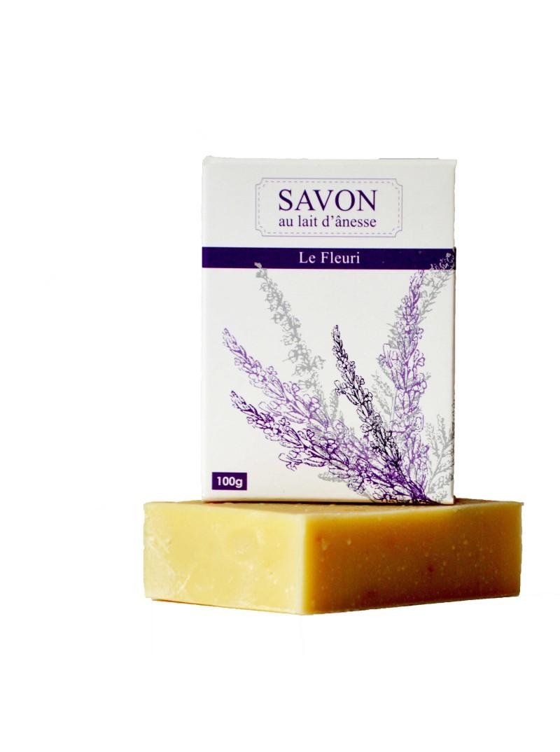 La Savonnerie Bourbonnaise - Savon au Lait d'Ânesse Le Fleuri - 100 grammes