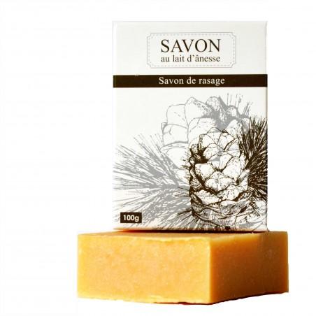 La Savonnerie Bourbonnaise - Savon au Lait d'Ânesse Rasage - 100 grammes