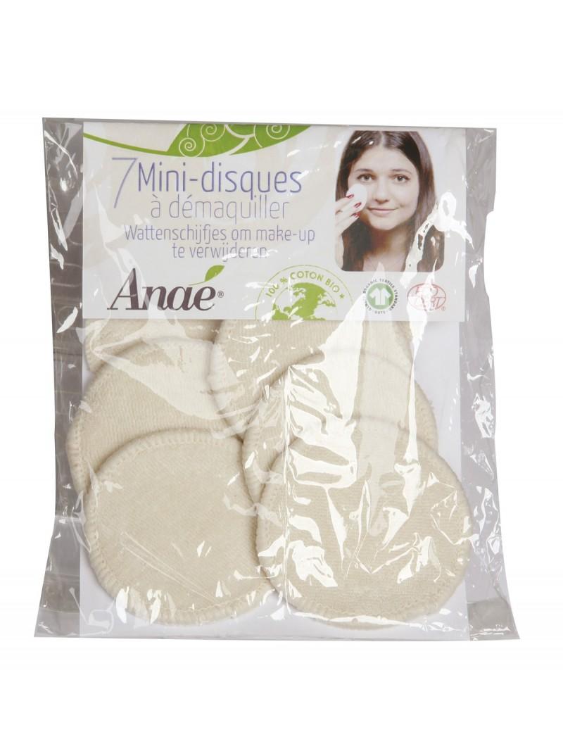 Anaé - 7 mini-disques démaquillants lavables en coton Bio